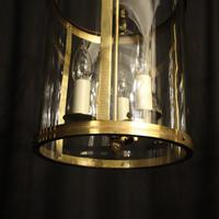 French Pair Convex Triple Light Antique Lanterns (6 of 9)