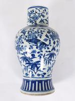 Mid 19th Century Chinese Blue & White Pottery Vase (7 of 9)