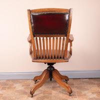 Teak Revolving Office Desk Chair (10 of 17)