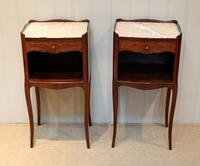 Pair of French Mahogany Inlaid Bedside Cabinets (2 of 10)