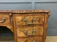 Burr Walnut Pedestal Desk by Maple and Co (5 of 18)