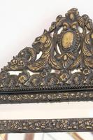 Dutch Repousse Brass Cushion Framed Mirror with Arched Crest (10 of 12)