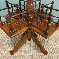 Antique Walnut Revolving Victorian Bookstand Table (2 of 6)
