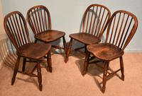 Victorian Ash & Elm Kitchen Dining Chairs (3 of 6)