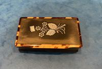 Victorian Horn & Tortoiseshell Snuff Box with Silver Inlay (12 of 16)