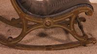 Polychrome Napoleon III Rocking Chair (3 of 10)