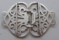 Victorian 1899 Hallmarked Solid Silver Nurses Belt Buckle William Hutton (5 of 8)
