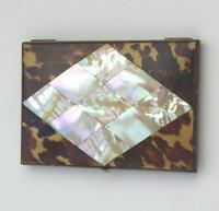 Good Tortoiseshell & Mop & Silver Visiting Card Case c.1880 (5 of 8)