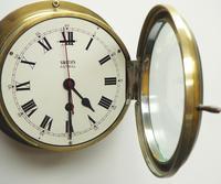 Superb Antique English Smiths Bulkhead Wall Clock 8 Day Ships Clock (3 of 11)