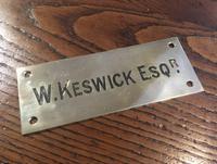 Brass Name Plate - Ardross Interest (2 of 2)