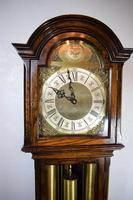 English Triple Weight Two Tune 'Westminster / Whittington / Silent' Glass Fronted Oak Grandmother or Small Grandfather Musical Longcase Clock (3 of 7)