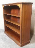 Edwardian Inlaid Mahogany Open Bookcase (6 of 10)