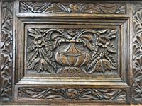 Antique Oak Carved Desk (9 of 13)