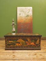 Antique Indian Mughal Rajasthan Painted Trunk