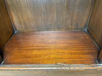 English Small Regency Style Dwarf Recessed Mahogany Open Bookcase (10 of 44)