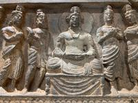 Gandharan Frieze Section with Buddha (4 of 4)