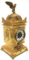 Good French Ormolu Cubed Classic 8 Day Striking Mantle Clock (2 of 11)