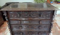 Carved Italian Walnut Chest of Drawers 5 Drawers 1760 (9 of 10)