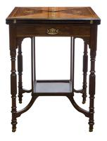 A Late Victorian Inlaid Rosewood Envelope Card Table (4 of 9)