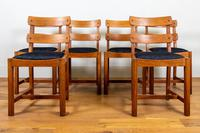 Set of 6 1930s Golden Oak Dining Chairs in the Manner of Heal's (3 of 16)