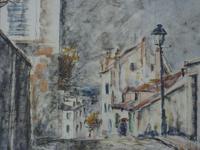 Fernand Laval Rue de Mont Cenis Montmartre Paris 1912 Watercolor Charcoal (5 of 6)