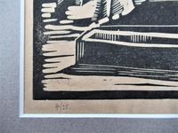 Mary Dudley Short (Molly Freeman), linocut print, Seated Buddha, 4/25, c1935 (4 of 6)