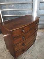 Victorian bow front chest of drawers (3 of 3)