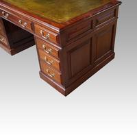 Edwardian mahogany large pedestal desk (6 of 14)