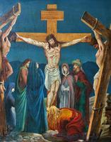Superb 19th Century Old Master Biblical Christ Oil Portrait Painting - Gothic Oak Frame (3 of 17)