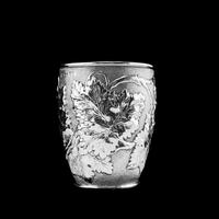 Antique Victorian Solid Silver Beaker / Cup with Superb Naturalistic Grapevine Design - Barnard 1871 (13 of 16)