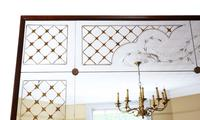 Italian Mahogany Chateau Overmantle or Wall Mirror c.1950 (8 of 9)