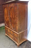 1830's Mahogany Linen Press with Slides (3 of 6)