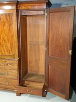 George III Period Mahogany Breakfront Wardrobe (5 of 8)