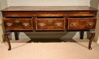 Stunning George III Oak Dresser Base (3 of 10)