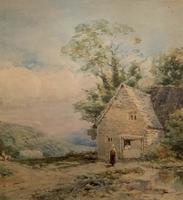William Charles Goddard Near Saltash Cornish Landscape Painting (9 of 14)