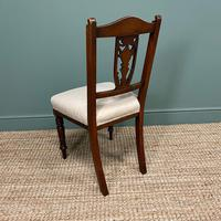 Set of Six Edwardian Walnut Antique Dining Chairs (7 of 8)