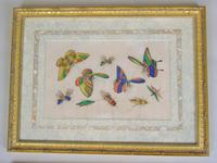 Fine Antique Pair of Chinese Paintings Butterflies & Insects on Pith (4 of 10)