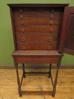 Antique Victorian Collectors Chest Cabinet on Stand, Lockable (5 of 17)
