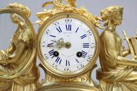 French Napoleon III Bronze Gilt Mantel Clock by Miroy Freres (3 of 13)