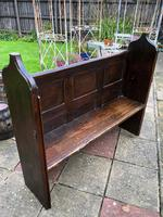 Antique Victorian Church Pew Bench Solid Oak (3 of 8)