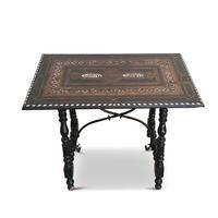 Antique Moorish Style Spanish Side Table with Arabic Writing (4 of 12)