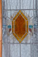 Antique pair of Edwardian leaded glass doors (2 of 3)