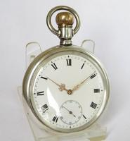 Antique Silver Omega Pocket Watch c.1910 (2 of 5)