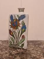18th Century Antique Iznik Stoneware Vase Flask Bottle Persian Ottoman Islamic (7 of 12)