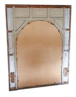 19th Century overmantle wall floor mirror painted (7 of 7)