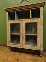 Antique Limed Oak Display Cabinet, Victorian rustic bohemian wall cabinet (10 of 16)