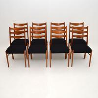 Set of 8 Danish Vintage Teak Dining Chairs by Arne Wahl Iversen (8 of 10)