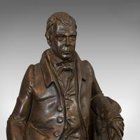 Antique Figure, Sir Walter Scott, Bronze, Statue, Poet, Victorian c.1880 (3 of 12)