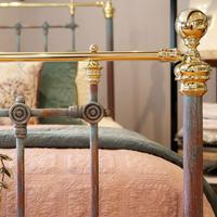 Decorative Antique Bed in Blue Verdigris (6 of 9)