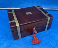 Georgian Solid Mahogany Brassbound Miniature Campaign Box (2 of 9)